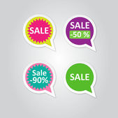 Vector Labels stickers with sale messages — Stock Vector