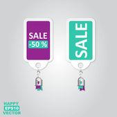 Vector rótulos adesivos com mensagens de venda — Vetor de Stock