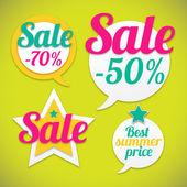 Naklejki z sprzedaż wiadomości — Wektor stockowy