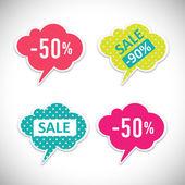 贴纸与销售消息 — 图库矢量图片