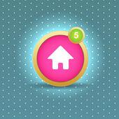 User interface home button — Stock Vector