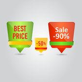 Aufkleber zu verkaufen — Stockvektor