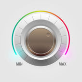 Sound control knob — Stock Vector