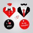 Holiday card elements — Stock Vector #29138199
