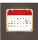 User interface calendar — Stock Vector