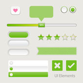 UI Web Elements: Buttons, Switchers, On, Off, Player, Audio, Video — Stock Vector