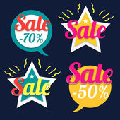 Sale stickers — Stock Vector