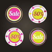 Sale stikers — Stock Vector