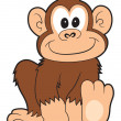 Happy cartoon monkey — Stock Photo