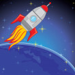 Rocket in the Space — Stock Photo