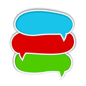 Set of colorful speech bubbles — Stock Photo