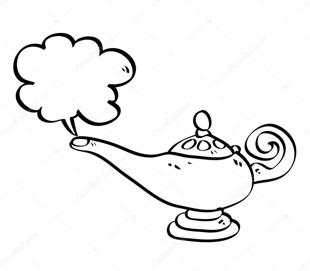Genie Lamp Drawing for Magic Lamp Drawing  1lp1fsj