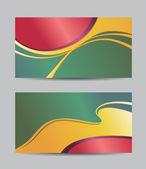 абстрактный творческие визитные карточки — Cтоковый вектор