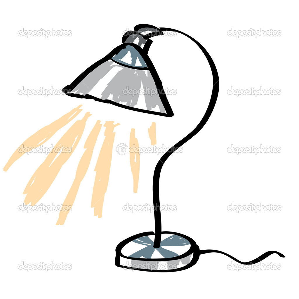 Cartoon Desk Lamp Stock Vector 169 Igordudas 45407947