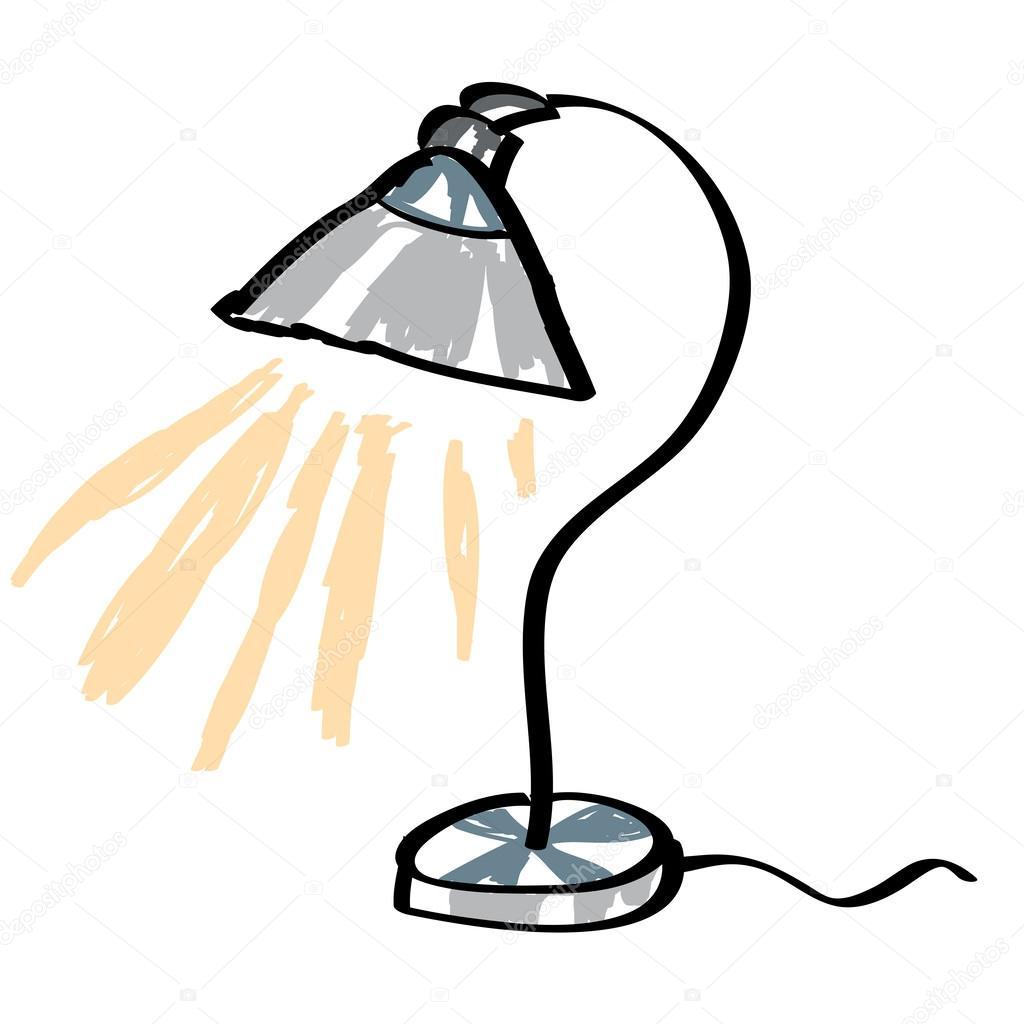 Cartoon Desk Lamp Mdash Stock Vector Amp 169 Igordudas 45407947
