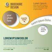 Brochure design content background — Stock Vector