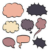 Cartoon speech bubble. Vector illustration on white background. — 图库矢量图片