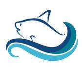 Ryba symbol — Wektor stockowy