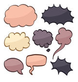 Cartoon speech bubbles — Stock Vector