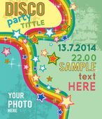 Retro disco party flyer — Stock Vector