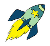 Cartoon rocket Illustration — Vetorial Stock