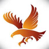 Ilustración de águila — Vector de stock