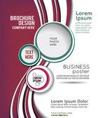 Flyer design or brochure — Stock Vector
