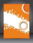 Orange brochure design — Stock Vector