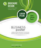 Stylish presentation of business poster — Stock Vector