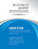 Lay-out met normale blauwe en witte ontwerpsjabloon — Stockvector