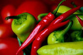 Scrumptious Bright Colored Peppers — Stock Photo