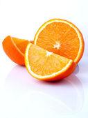 Orange pieces — Stock Photo