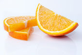 Orange pieces — Stock Photo