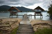 Gazebo on the beach in thailand — Stock Photo