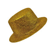 Vintage golden lady's hat  on white background isolated — Stock Photo