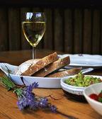 Wine glass and brad — Stock Photo
