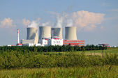 Nuclear electric power station — Stock Photo