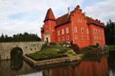 романтический красный замок — Стоковое фото