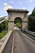 Ancient chain bridge — Stock Photo
