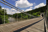 Ancient chain bridge — Stock Photo