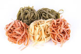Tagliatelle Tricolori — Stock Photo