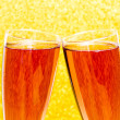 Celebration toast with rose champagne — Stock Photo