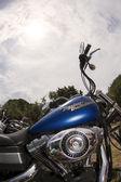 Harley und himmel — Stockfoto