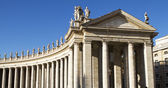 Vatican city colonnades — Stock Photo