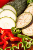Sliced vegetables — Stockfoto