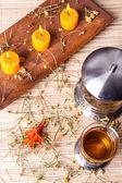 Tea on chamomiles — Stock Photo