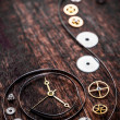 Various clock parts — Stock Photo