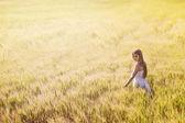 Enjoying in field — Photo