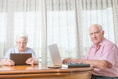 Laptop and tablet — Stock Photo