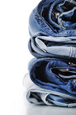 Stack of jeans — Стоковое фото